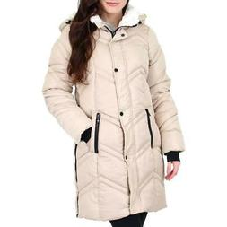 women s quilted chevron warm winter hooded