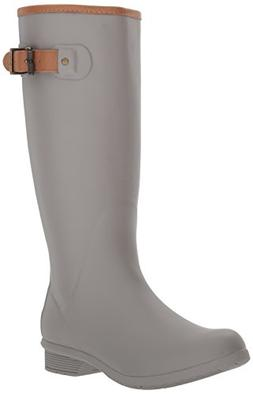Chooka Women's Tall Memory Foam Rain Boot, Stone, 7 M US