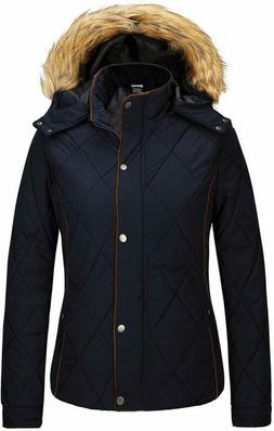 Wantdo Women'S Thicken Winter Coat Classic Quilted Puffer Ja