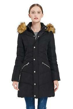 Orolay Women's Thickened Down Jacket Puffer Coat with Hood B