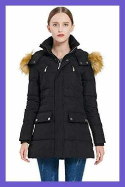 Orolay Women's Thickened Down Jacket Winter Coat BLACK XL X