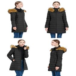 Women's Thickened Down Jacket Winter Coat BLACK XS X Small F