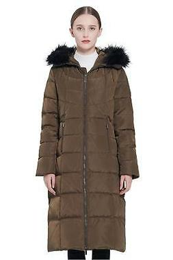 Orolay Women's Thickened Puffer Down Jacket Winter Hooded Co