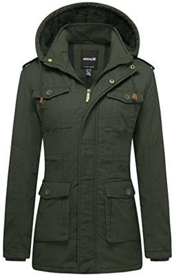 Wantdo Women's Warm Breathable Winter Outwear Coat with Remo