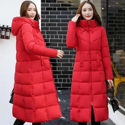 Women's Warm Hooded Down Coat Thicken Cotton Parka Winter Lo