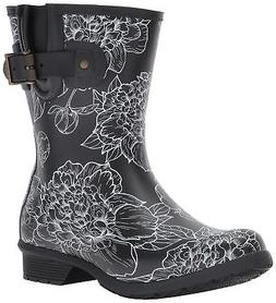 Chooka Women's Waterproof Mid-Height Printed Rain Boot Memor