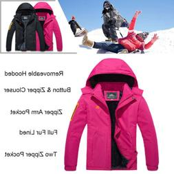 Women's Waterproof Ski Jacket Fleece Lined Winter Hiking War