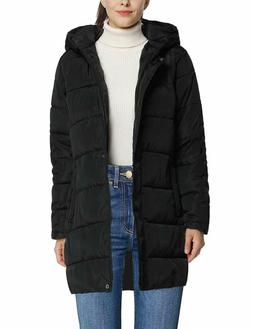 4How Women's Winter Coat Long Anorak Parka Quilted Padded Th