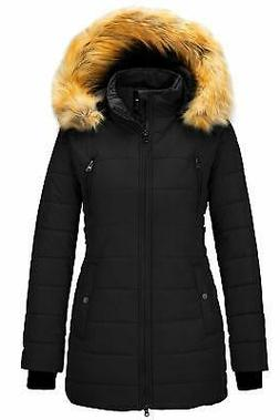 Wantdo Women's Winter Coat Thicken Outwear Puffer Coats with