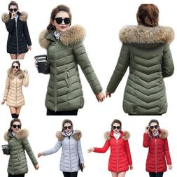 Women's Winter Down Cotton Parka Hooded Coat Quilted Jacket