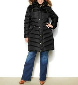 Michael Kors Women's Winter Down Puffer Parka faux Hooded co