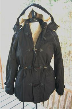 Women's Winter Jacket, XL, Cotton, Coat, Removable Hood, Bla