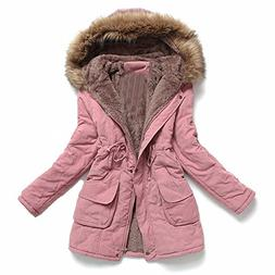 Women's Winter Mid-length Hooded Cotton-padded Coats Jackets