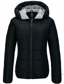 Wantdo Women'S Winter Quilted Puffer Padded Cotton Warm Jack