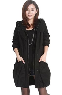 Mordenmiss Women's Winter Thick Outerwear Coat with Big Pock