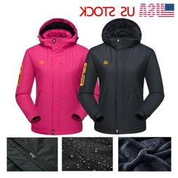 Women's Winter Waterproof Windproof Ski Jacket Warm Fleece L