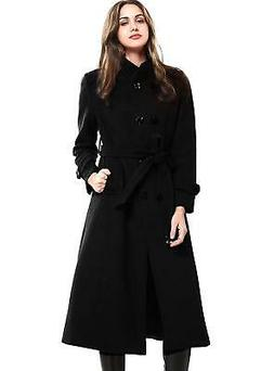 Escalier Women's Wool Trench Coat Winter Double-Breasted Jac