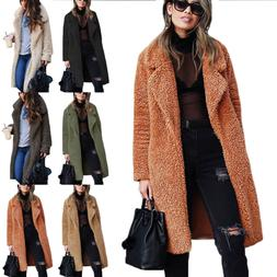 Women Warm Teddy Bear Coat Cardigan Ladies Winter Thick Over