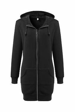 Zeagoo Women Winter Casual Zipper Hoodies Sweatshirt Coat Fl
