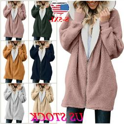 women winter fuzzy fluffy coat fleece fur