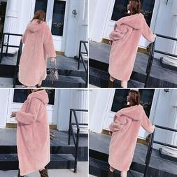 Women Winter Jacket With Fur Hood Long Down Warm Parka quilt