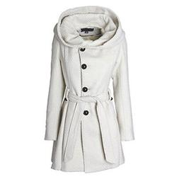Women Winter Jacket wool blended Sportoli classy hooded coat