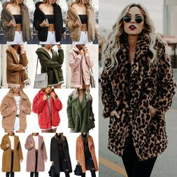 Women Winter Warm Fleece Fur Teddy Bear Coat Fashion Zip Out