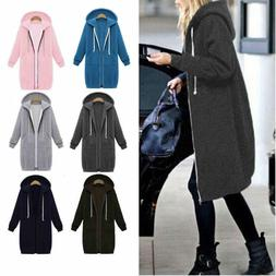 women winter zipper hoodie sweater hooded long
