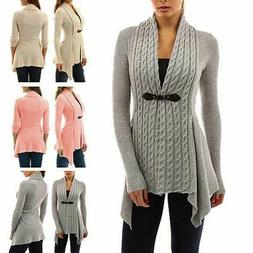 Womens Cardigan Top Fleece Fur Sweater Jumper Jacket Winter