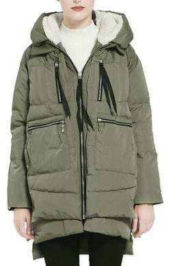 Orolay Women's Green Thickened Winter Down Jacket Coat SZ.