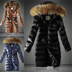 Womens PADDED JACKET FUR COLLAR Coat Quilted Insulated Puffe