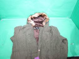 4HOW Womens Parka Jacket Hooded Winter Coat Faux Fur Outdoor