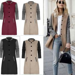 35e291ed7a04 Editorial Pick Womens Slim Trench Warm Coat Long Wool Jacket Parka Cardigan