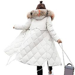 Susanny Womens Winter Down Coats Quilted Warm Winter Zip Par