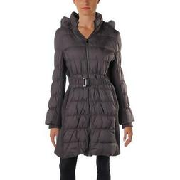 Via Spiga Womens Winter Down Rabbit Fur Parka Coat Outerwear