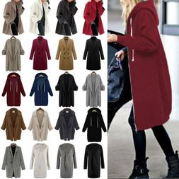 Womens Winter Overcoat Hooded Long Trench Coats Thick Warm C