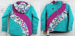 Burton Youth Girls Hart Jacket, Everglade Block, Medium